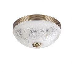 Deckenleuchte Ø 30cm mit geschliffenem Glas, bronzefarbend