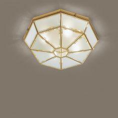 Deckenleuchte Ø44cm mit Kristallglas, 5 Varianten