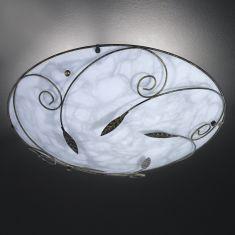 Deckenleuchte aus Alabasterglas mit Dekor - Ø40cm