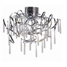 Deckenleuchte aus Chrom, 8 flammig, inklusive Leuchtmittel + LED Taschenlampe