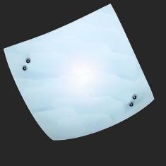 Deckenleuchte aus Glas in Wolkenoptik 1x 40 Watt, weiß