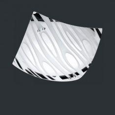 Deckenleuchte in chrom mit chrombedampften Glas 23x23cm