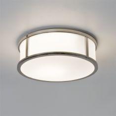 Deckenleuchte in Chrom mit Opalglas weiß, Ø23cm - inklusive Leuchtmittel
