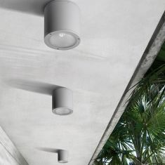 Deckenleuchte für den Außenbereich IP65, 2 Farben