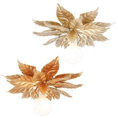 Deckenleuchte in Gold 48 cm, Gold oder Gold-antik