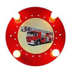 Deckenleuchte mit Feuerwehrauto