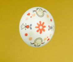 Deckenleuchte mit Motivglas Junge oder Mädchen 39,5 cm