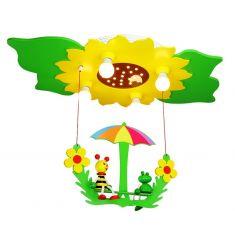 Deckenleuchte mit Sonnenblume und Schaukel - inklusive LED-Leuchtmittel
