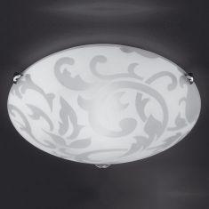 Deckenleuchte Ornamentik aus Glas 40cm