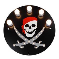 Deckenleuchte Piraten-Totenkopf in schwarz - inklusive 20 LEDs