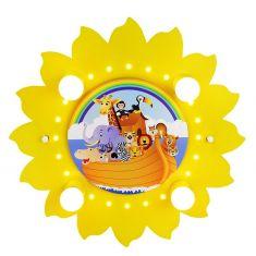 Deckenleuchte in Sonnenform mit Arche Noah und vielen Tieren