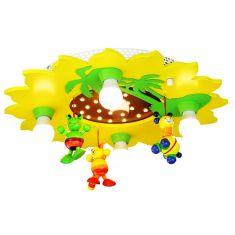 Deckenleuchte in Sonnenform mit Palmen und niedlichem Mobile