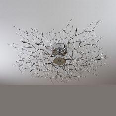 Deckenleuchte Treelamp chrom mit 80cm Durchmesser