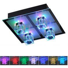 Deckenleuchte, Halogen und LED-RGB-Farbwechsel, Fernbedienung