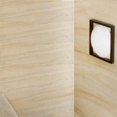Decken-/ Wandleuchte mit Wengeholz