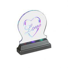 Dekorative LED Leuchte aus Acryl mit Farbwechsel