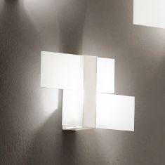 Dekorative Wand-/Deckenleuchte in Weiß weiß