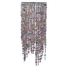 Dekorativer Lampenschirm - Chrom und Kunststoff -  Durchmesser 23 cm - Höhe 63 cm - Bunt