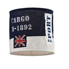 Dekorativer Textillampenschirm - Durchmesser 28 cm - Höhe 26 cm, Aufnahme E27