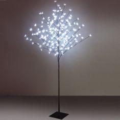 Dekoratives Highlight-150cm hohes LED-Bäumchen für INNEN und AUßEN geeignet