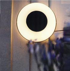 Design-Außenleuchte Origo, in silber, Ø27cm