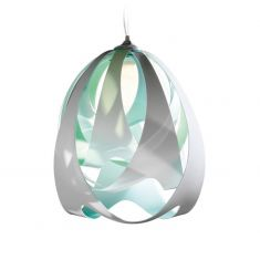 Designer Pendelleuchte Goccia von Slamp - Ø30cm - Aqua blau/grün/weiß