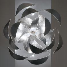 Design-Wandleuchte aus Edelstahl, Ø 100cm
