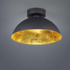 Dimmbare LED-Deckenleuchte 40 cm, Schwarz / Innen Gold