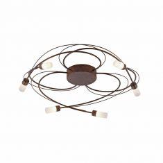 Dimmbare LED-Deckenleuchte Nelia, rostfarbig rost / rostbraun