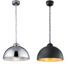 Dimmbare LED-Pendelleuchte Romino rund 40 cm, 2 Farben