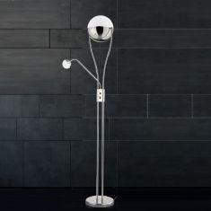 Dimmbarer LED Deckenfluter Chris Acryl mit Kristalleffekt