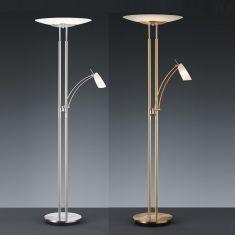 Dimmbarer LED-Standfluter 180 cm mit Lesearm, 2 Oberflächen