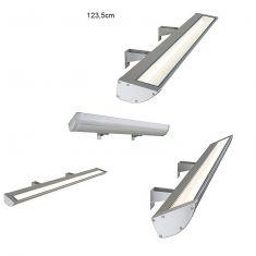 Displayleuchte in silbergrau für Außen, Länge 123 cm