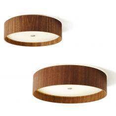 Domus Design-LED-Deckenleuchte in Nussbaum, zwei Größen