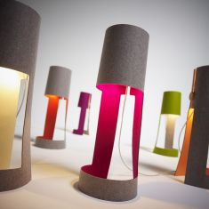 Domus Design-Tischleuchte aus Wollfilz