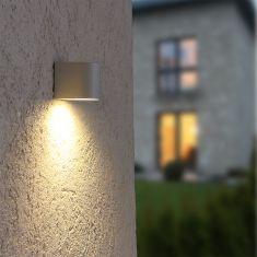 Downlight LED-Außenwandfluter weiß, inkl 5 W LED