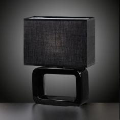 Eckige Keramik-Tischleuchte Höhe 32cm in Schwarz