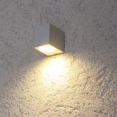 Eckiges Downlight LED-Wandfluter weiß, inkl. 5W  GU10 LED
