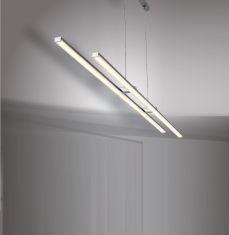 Effiziente LED-Zugpendelleuchte Wave Line
