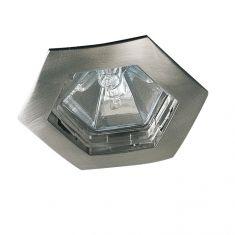 Einbauleuchte hexagonal in Eisen-gebürstet IP44