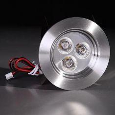 Einbauspot aus Aluminium, LED 3 x 1W warmweiß