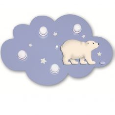 Eisbär Deckenlampe Wolke, Glitzersterne