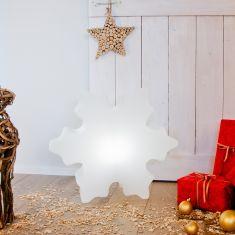 Eiskristall-Dekoleuchte Ø 60cm in weiß