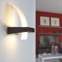 Elegante Wandleuchte Glas Wenge-Holz