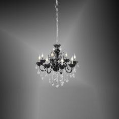 Eleganter 8-flammiger Kronleuchter mit Kristallbehang