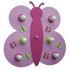 Wandleuchte Schmetterling in Rosa und Pink