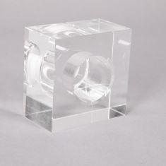 Ersatzglas in Eiswürfeloptik - Klares Glas