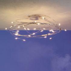 Escale Design 30-flammige Deckenleuchte Spin, 3 Oberflächen wählbar