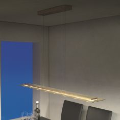 Escale LED-Pendelleuchte Skyline in Blattgold