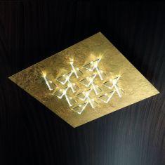 Exklusive Deckenleuchte - Handarbeit aus Italien -  LED in Blattgold